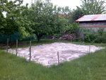 Příprava plochy ke stavbě pergoly