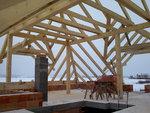 Montáž střechy Rataje