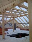 Pohled na střechu zespodu