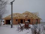Hotová nosná konstrukce střechy