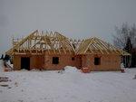 Střecha před dokončením