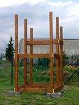 Montáž dřevěné skluzavky