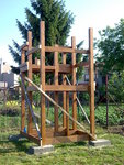 Montáž dřevěné skluzavky 2