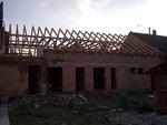 Montáž střechy Henclov, pohled zepředu