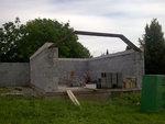 Začátek stavby střechy - Slatinice