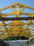 Konstrukce střechy - Slatinice - pohled zevnitř