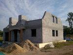 Přípravy montáže střechy Věrovany