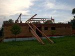 Trámy pro stavbu střechy