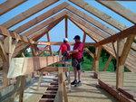 Střecha Želatovice - při práci