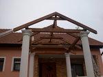 Stavba stříšky Olomouc - detail